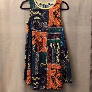 NWT bright abstract pattern tank dress
